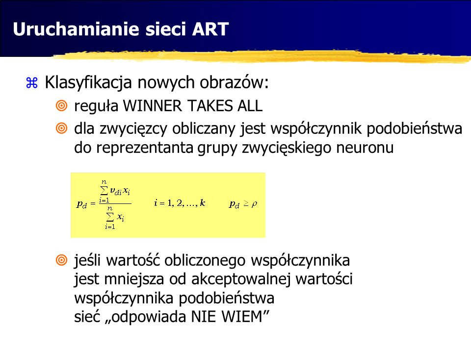 Uruchamianie sieci ART