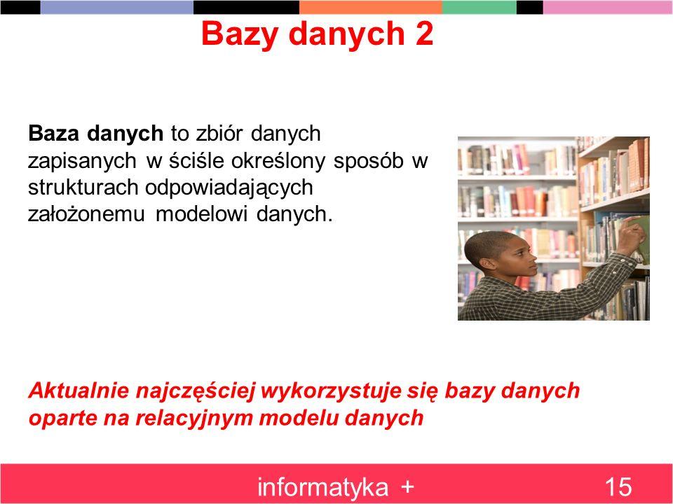 Bazy danych 2 informatyka +