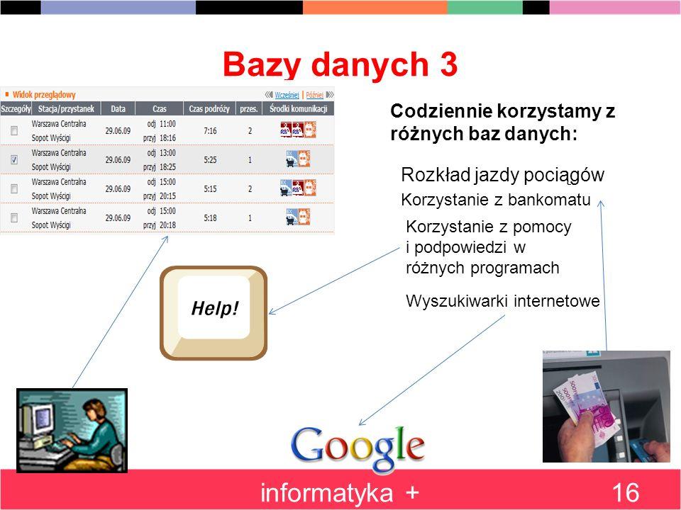 Bazy danych 3 informatyka +