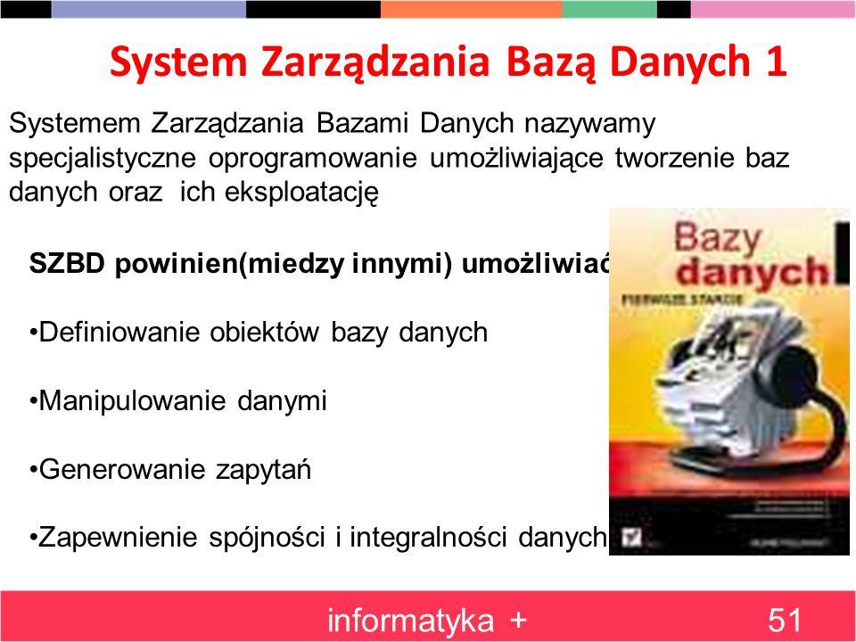 System Zarządzania Bazą Danych 1