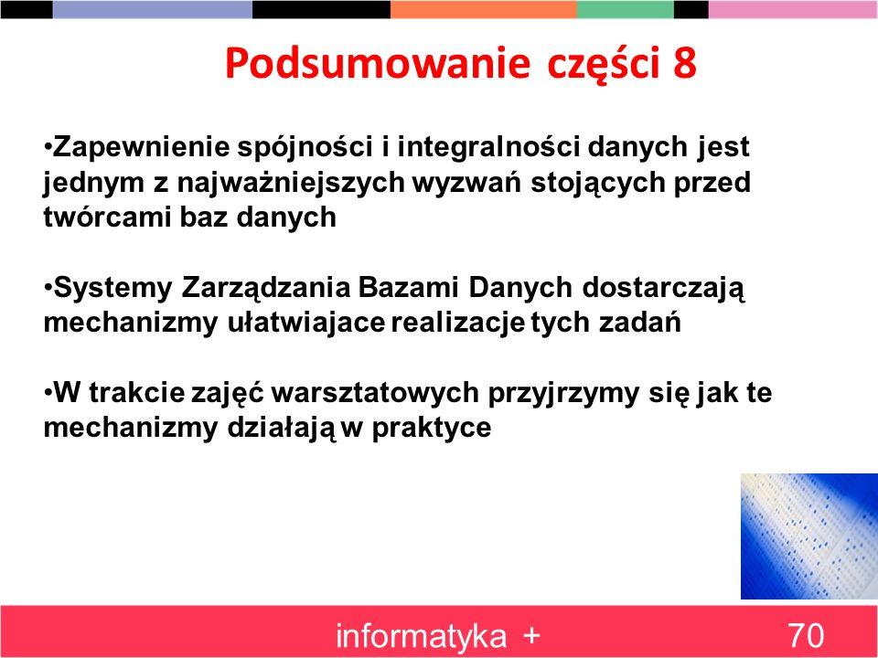Podsumowanie części 8 informatyka +