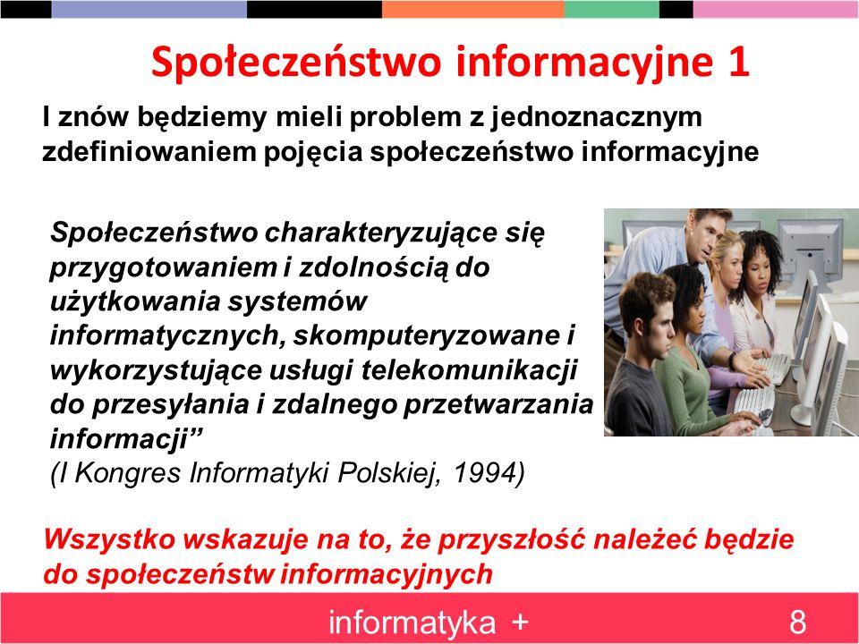 Społeczeństwo informacyjne 1