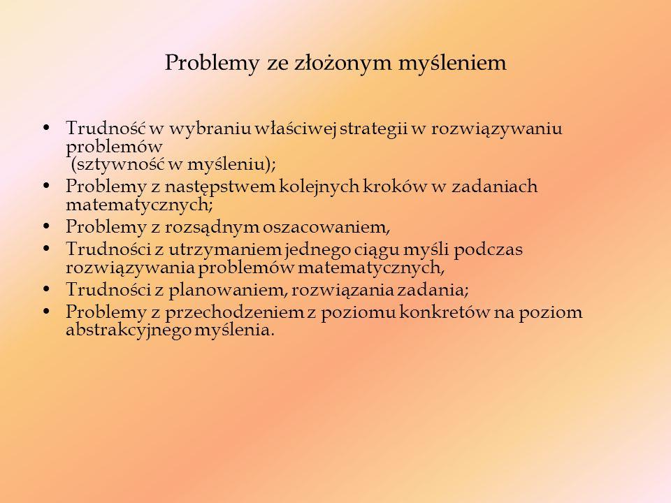 Problemy ze złożonym myśleniem