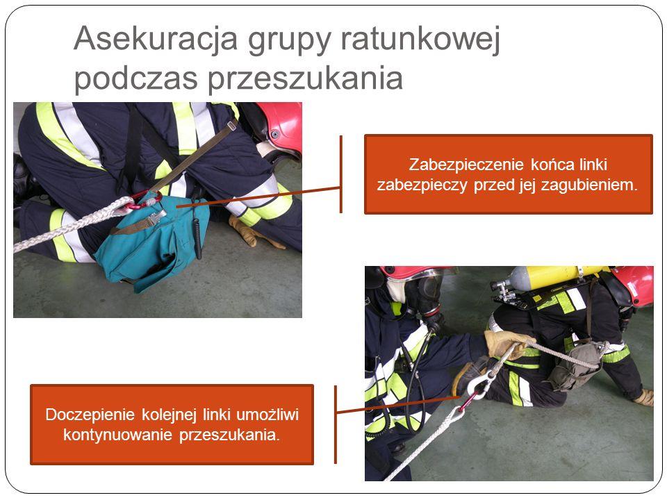 Asekuracja grupy ratunkowej podczas przeszukania