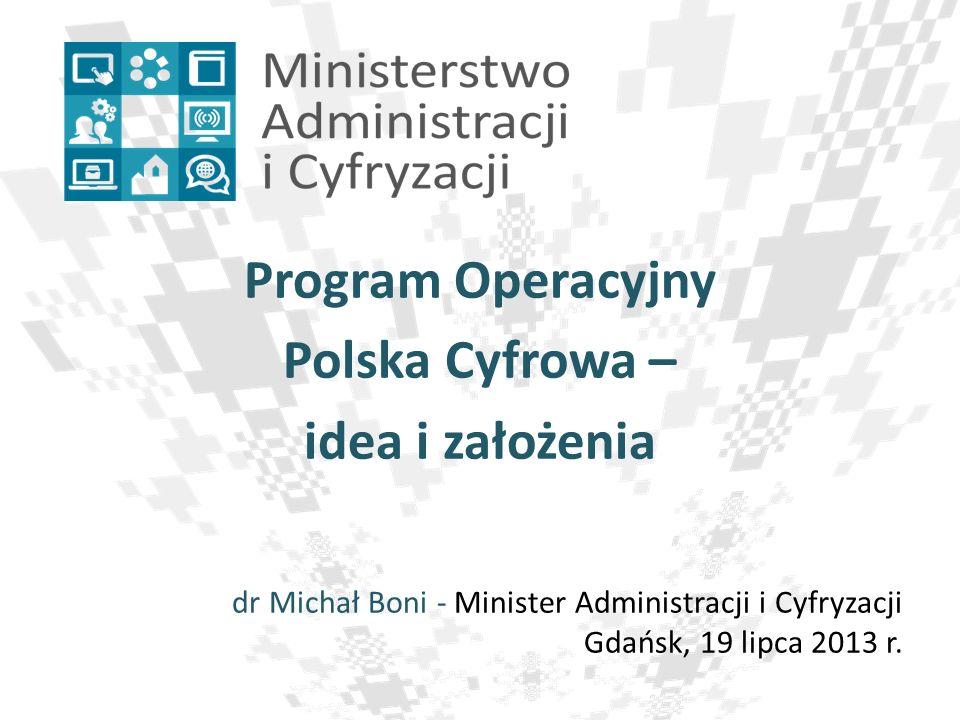 Program Operacyjny Polska Cyfrowa – idea i założenia