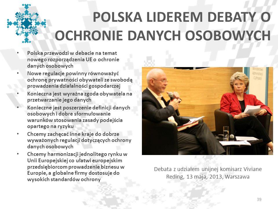 POLSKA LIDEREM DEBATY O OCHRONIE DANYCH OSOBOWYCH