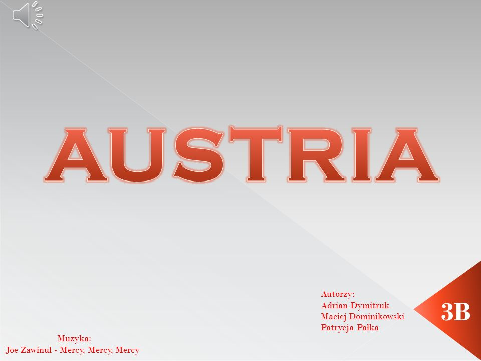 AUSTRIA 3B Autorzy: Adrian Dymitruk Maciej Dominikowski Patrycja Pałka
