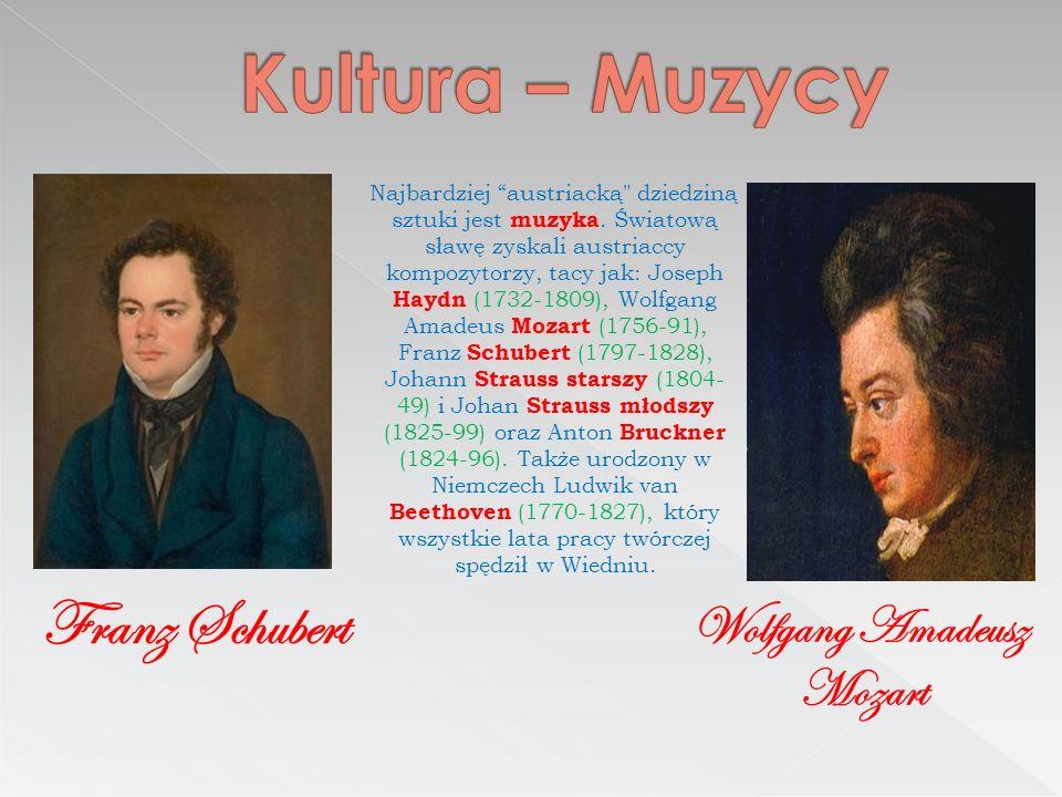 Kultura – Muzycy Franz Schubert Wolfgang Amadeusz Mozart