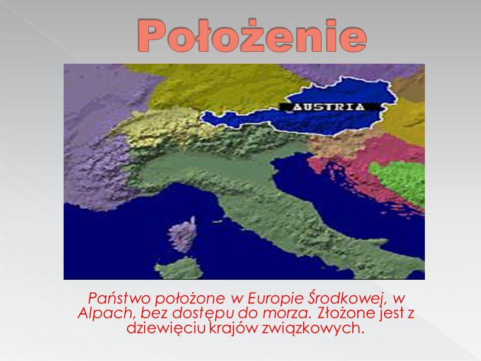 Położenie Państwo położone w Europie Środkowej, w Alpach, bez dostępu do morza.