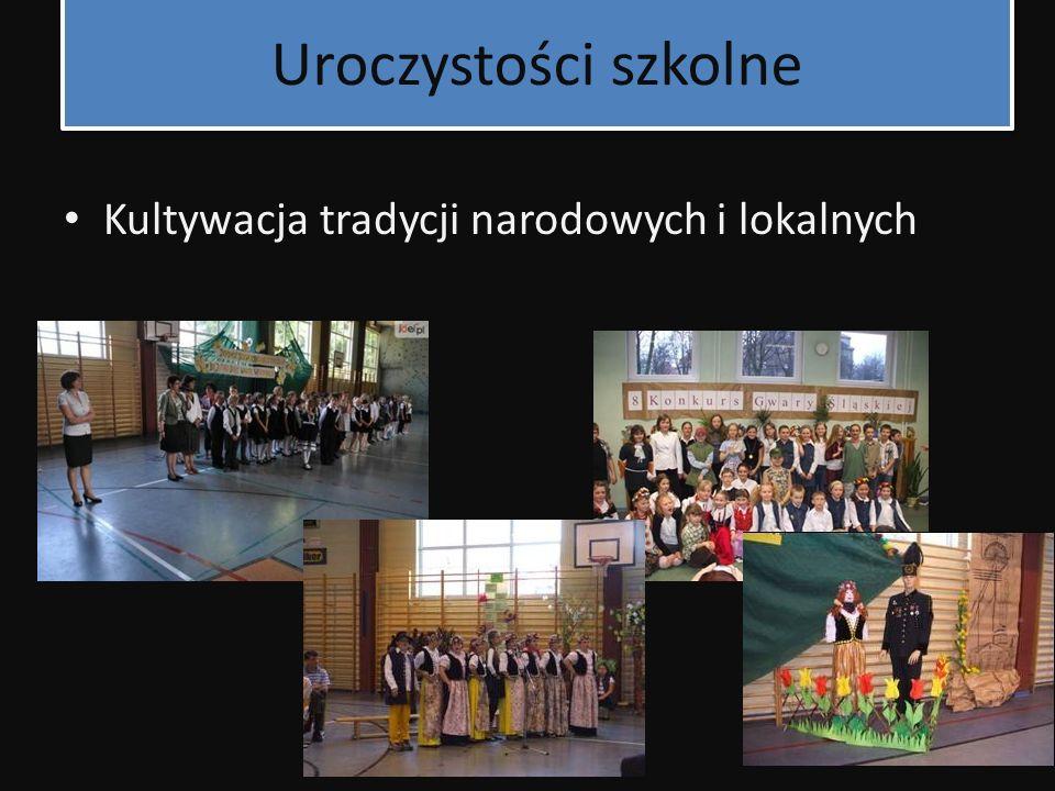 Uroczystości szkolne Kultywacja tradycji narodowych i lokalnych