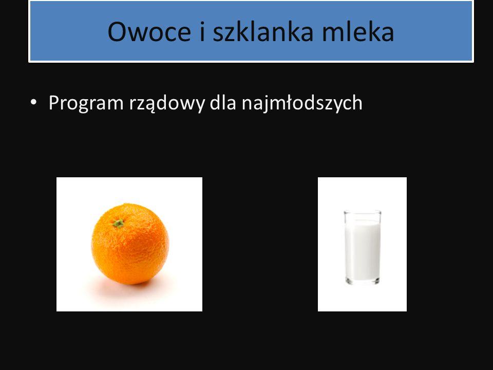 Owoce i szklanka mleka Program rządowy dla najmłodszych