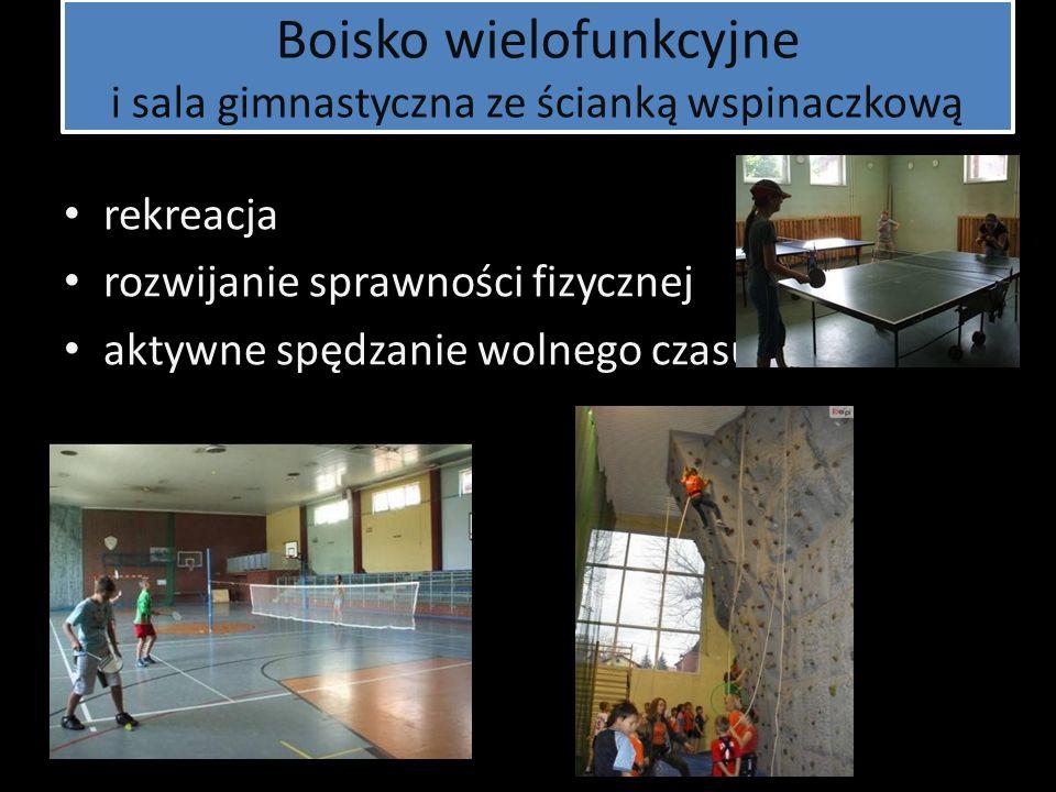 Boisko wielofunkcyjne i sala gimnastyczna ze ścianką wspinaczkową