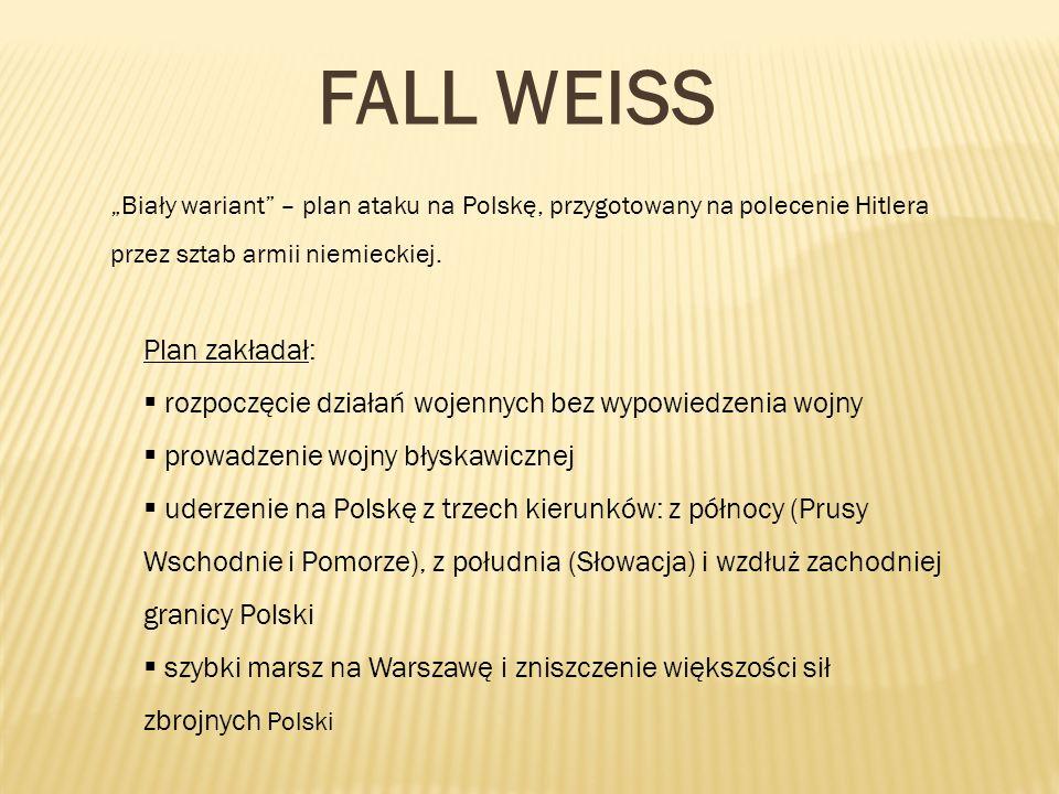 FALL WEISS Plan zakładał: