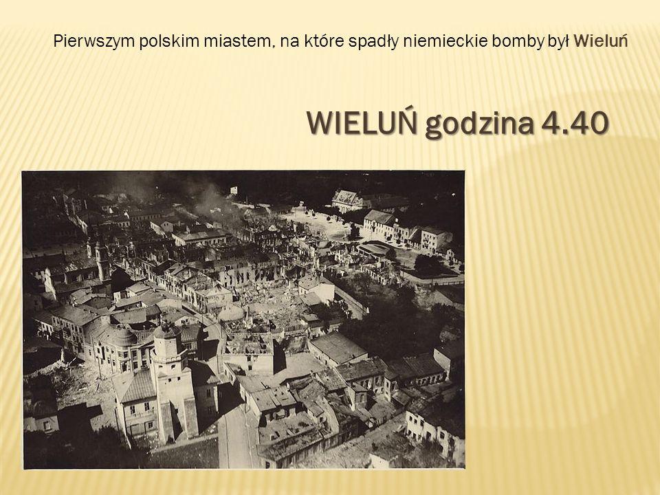 Pierwszym polskim miastem, na które spadły niemieckie bomby był Wieluń