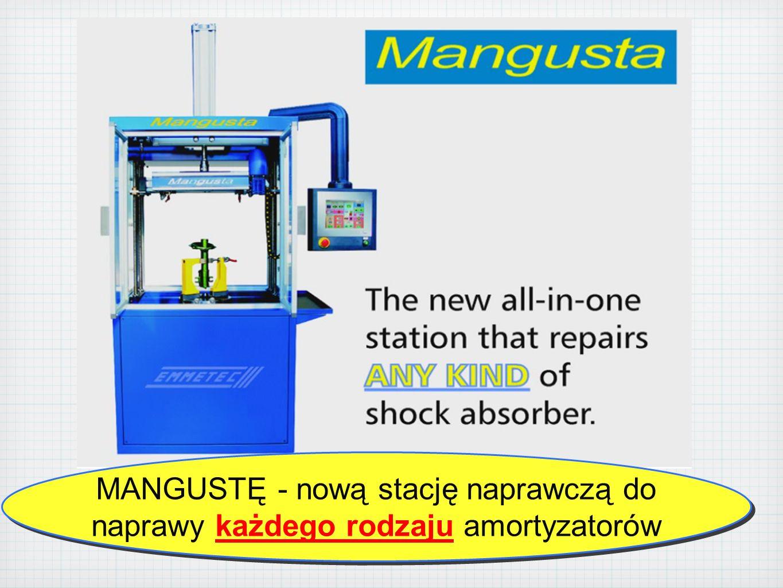 MANGUSTĘ - nową stację naprawczą do naprawy każdego rodzaju amortyzatorów