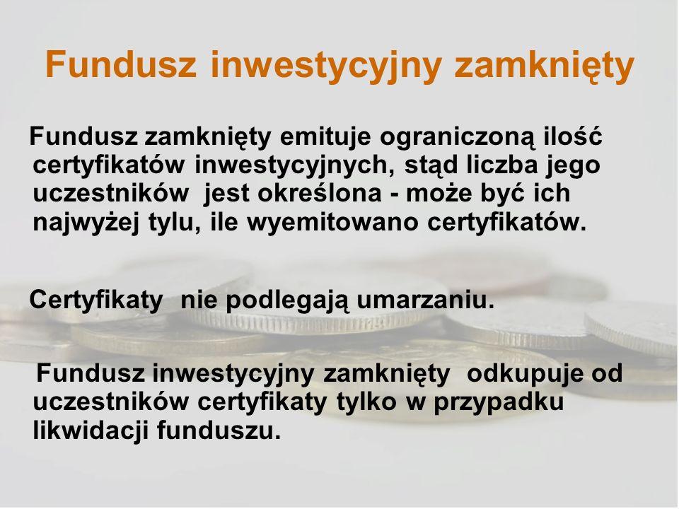 Fundusz inwestycyjny zamknięty