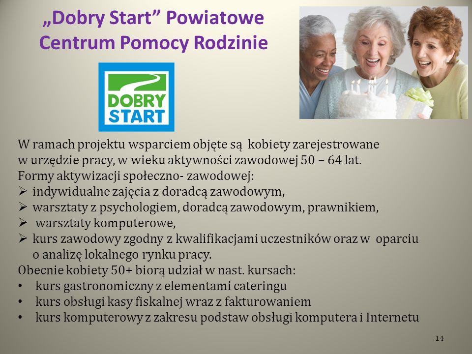 """""""Dobry Start Powiatowe Centrum Pomocy Rodzinie"""