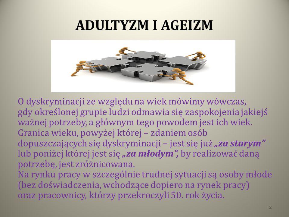 ADULTYZM I AGEIZM