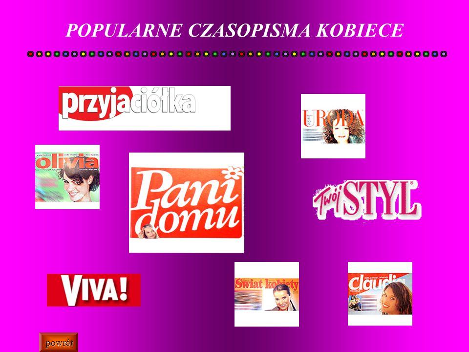 POPULARNE CZASOPISMA KOBIECE