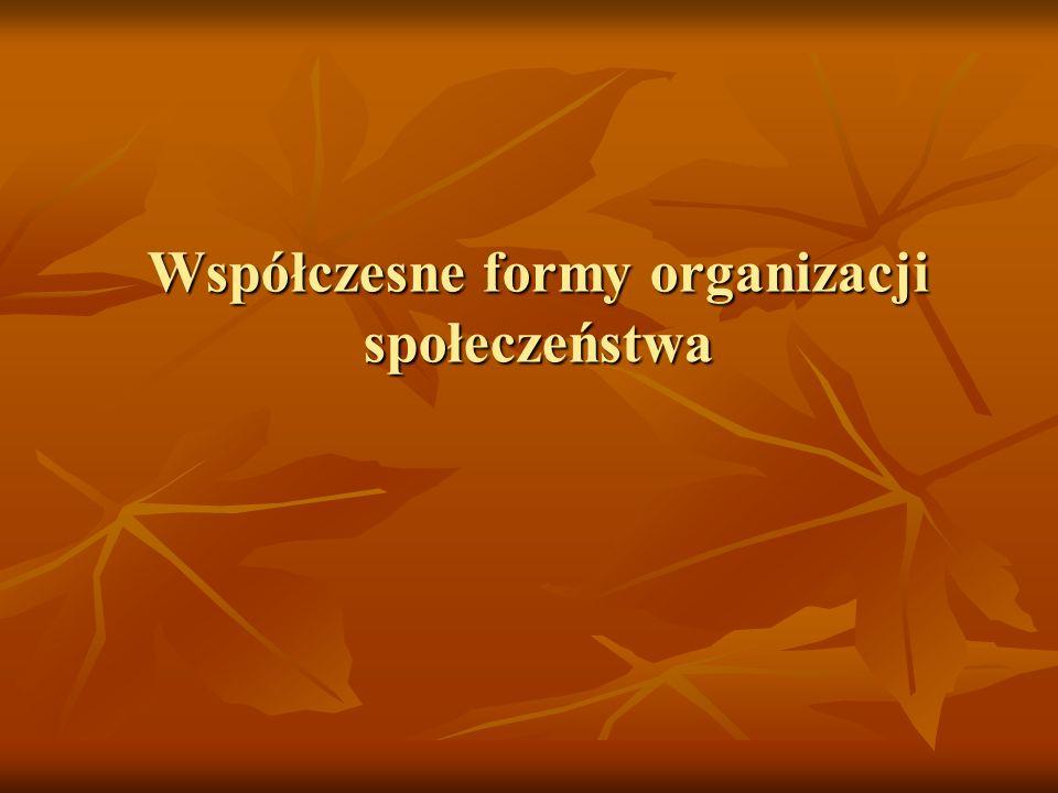 Współczesne formy organizacji społeczeństwa