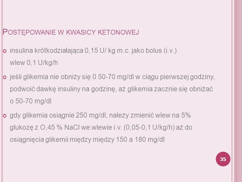 Postępowanie w kwasicy ketonowej