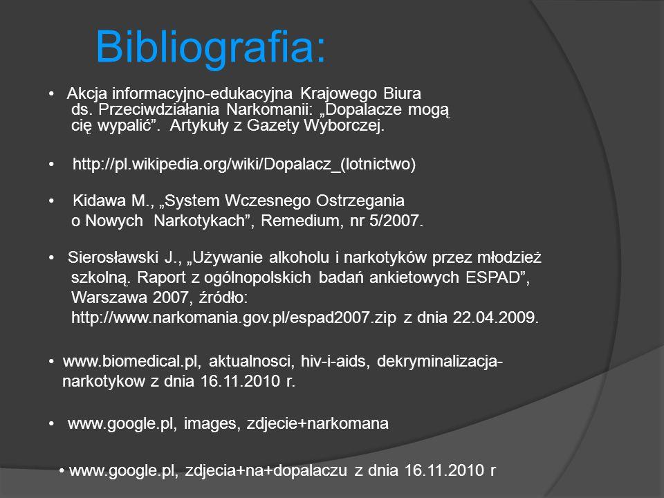 Bibliografia: Akcja informacyjno-edukacyjna Krajowego Biura