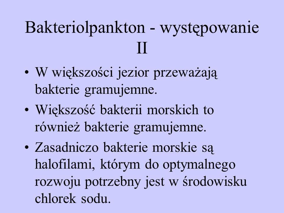 Bakteriolpankton - występowanie II