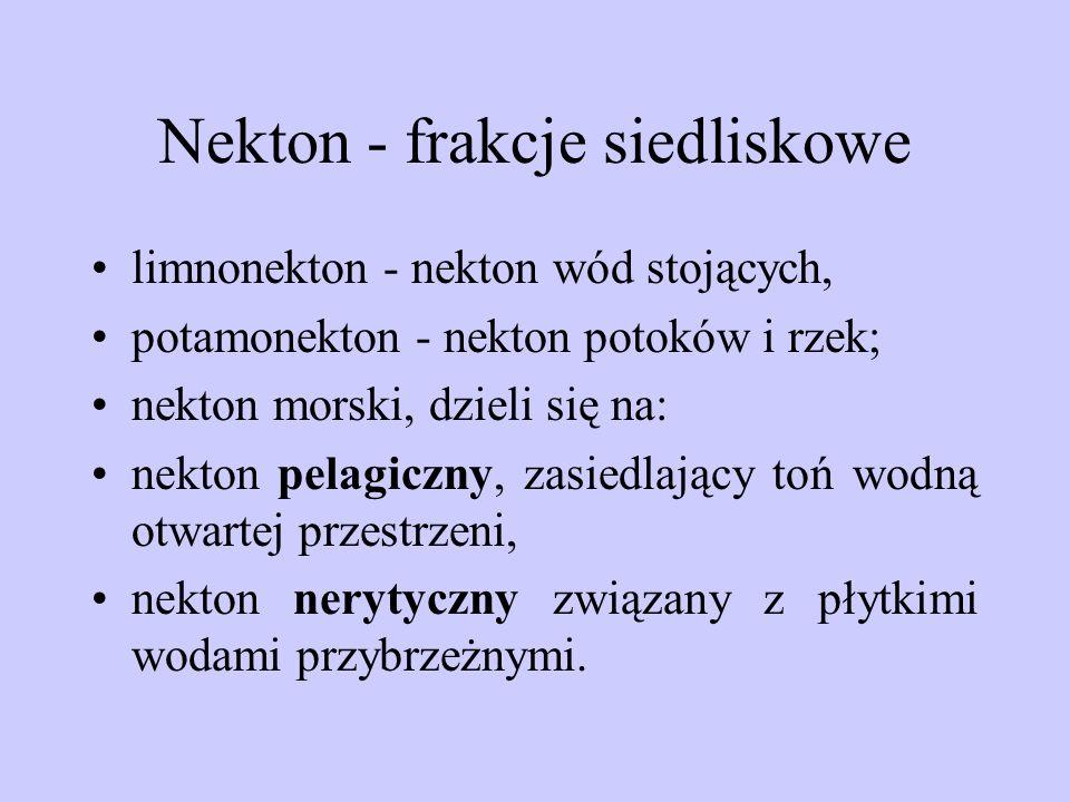 Nekton - frakcje siedliskowe