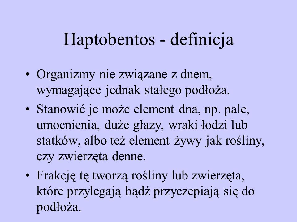Haptobentos - definicja