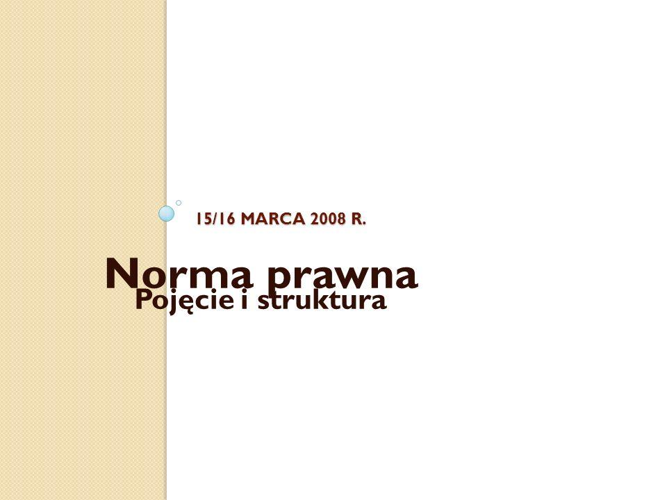 Norma prawna Pojęcie i struktura
