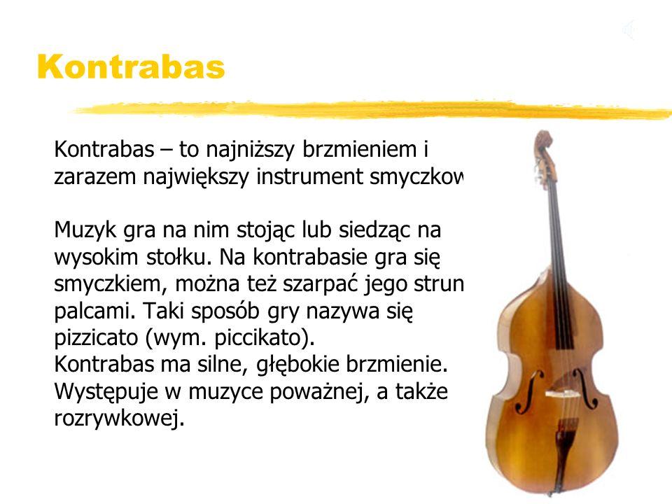Kontrabas Kontrabas – to najniższy brzmieniem i