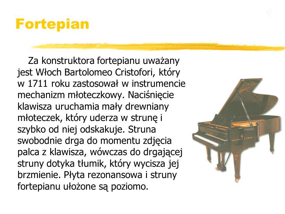 Fortepian jest Włoch Bartolomeo Cristofori, który