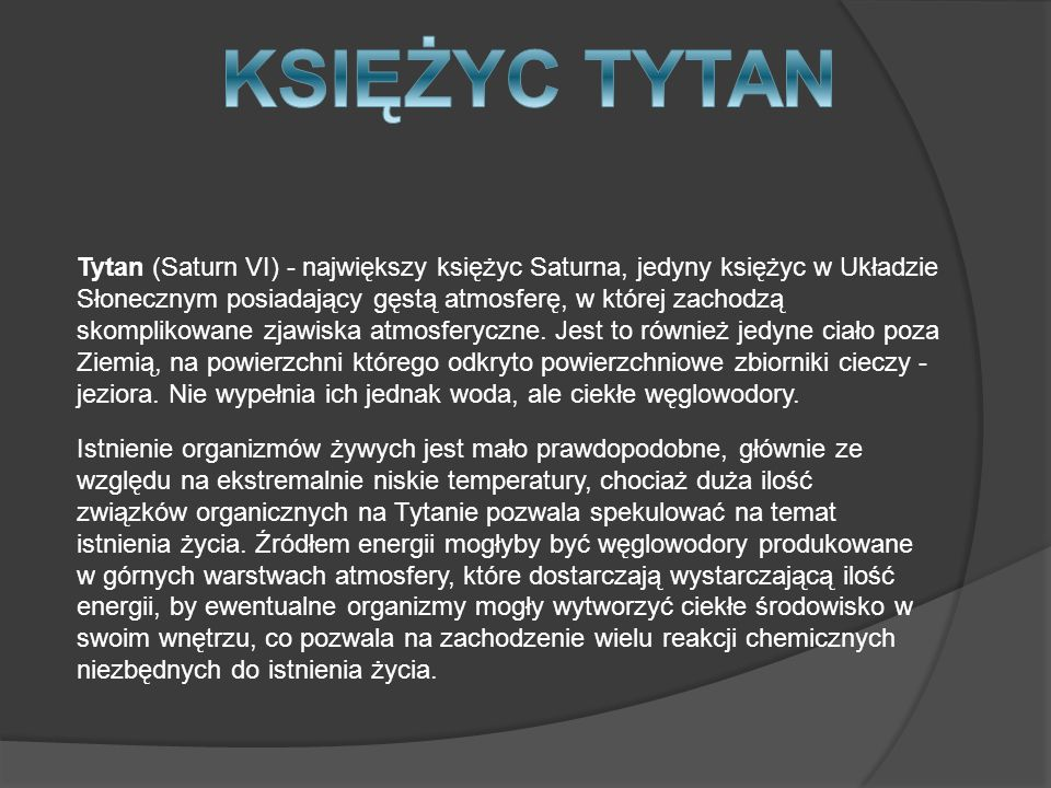 KSIĘŻYC TYTAN