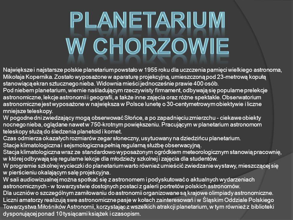 PLANETARIUM W CHORZOWIE