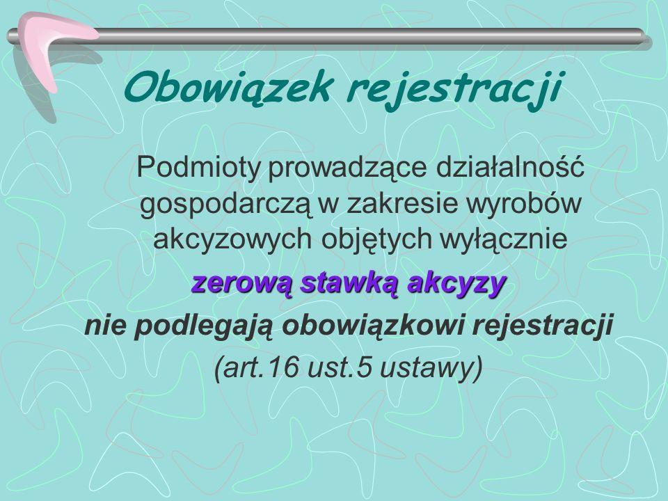 Obowiązek rejestracji