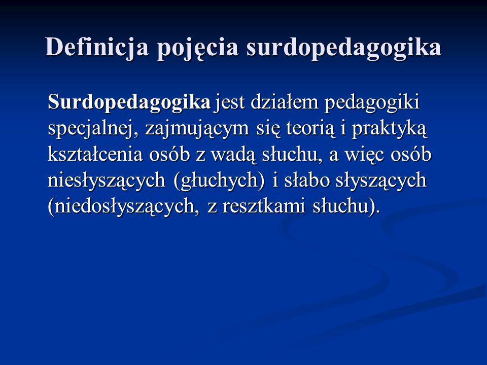 Definicja pojęcia surdopedagogika