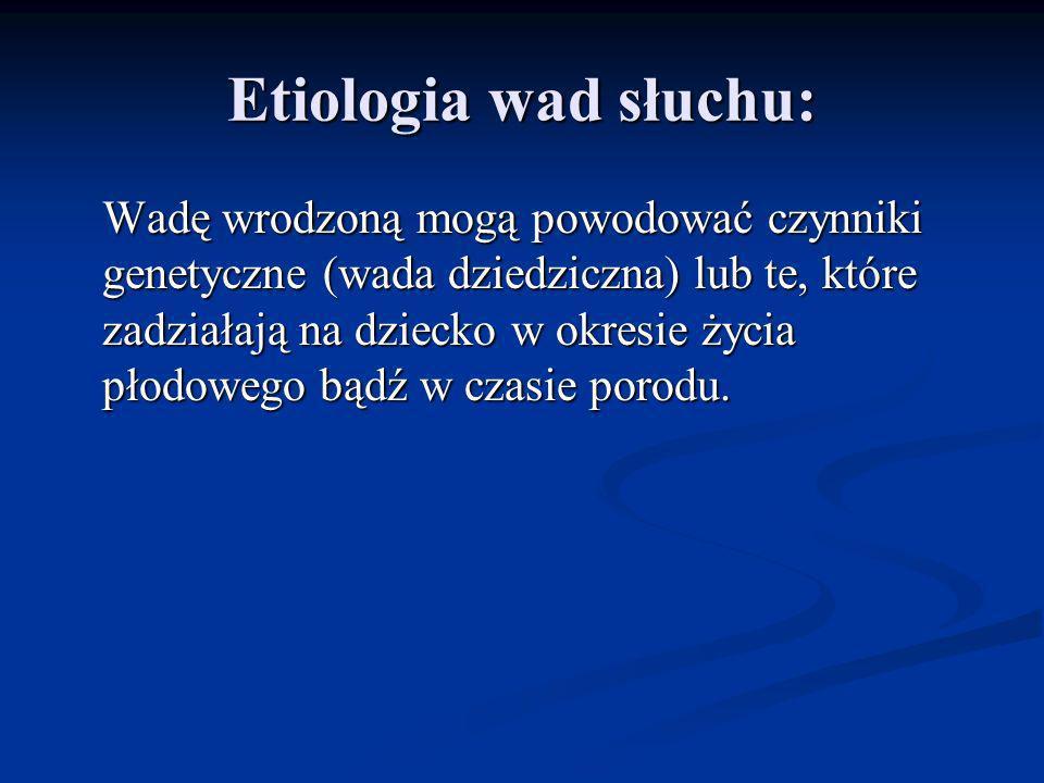 Etiologia wad słuchu: