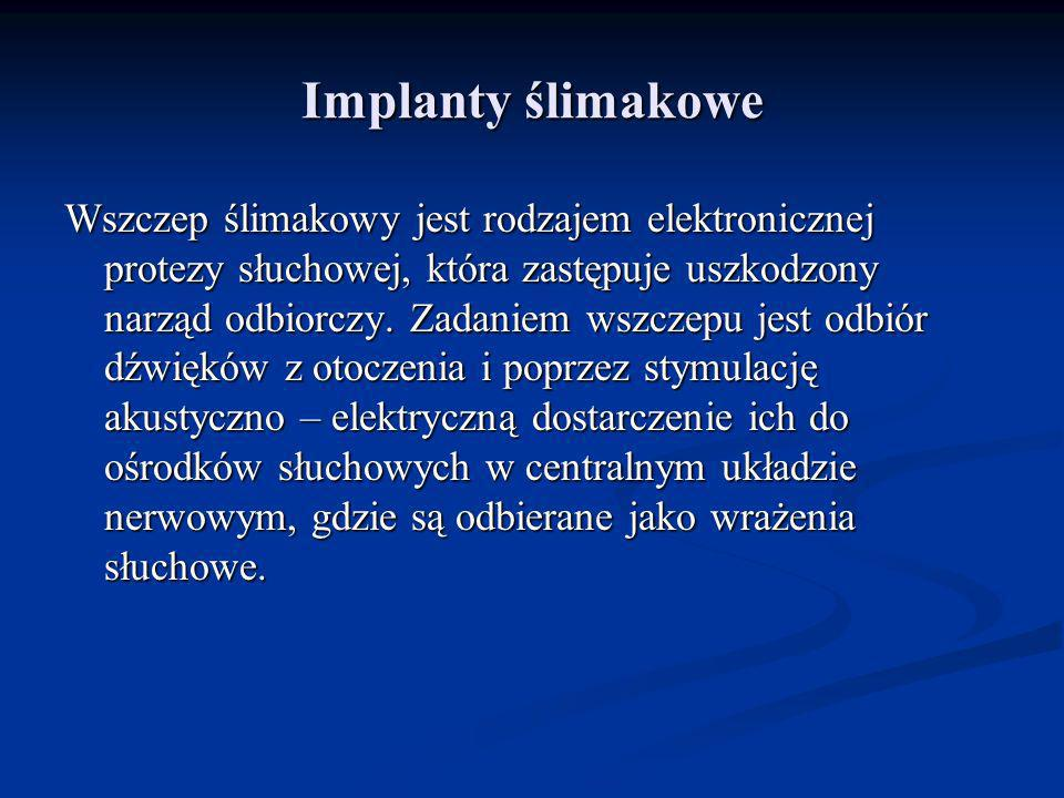 Implanty ślimakowe