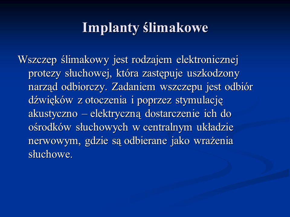 Implanty ślimakowe