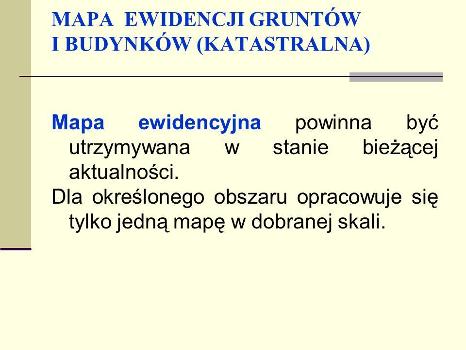 MAPA EWIDENCJI GRUNTÓW I BUDYNKÓW (KATASTRALNA)