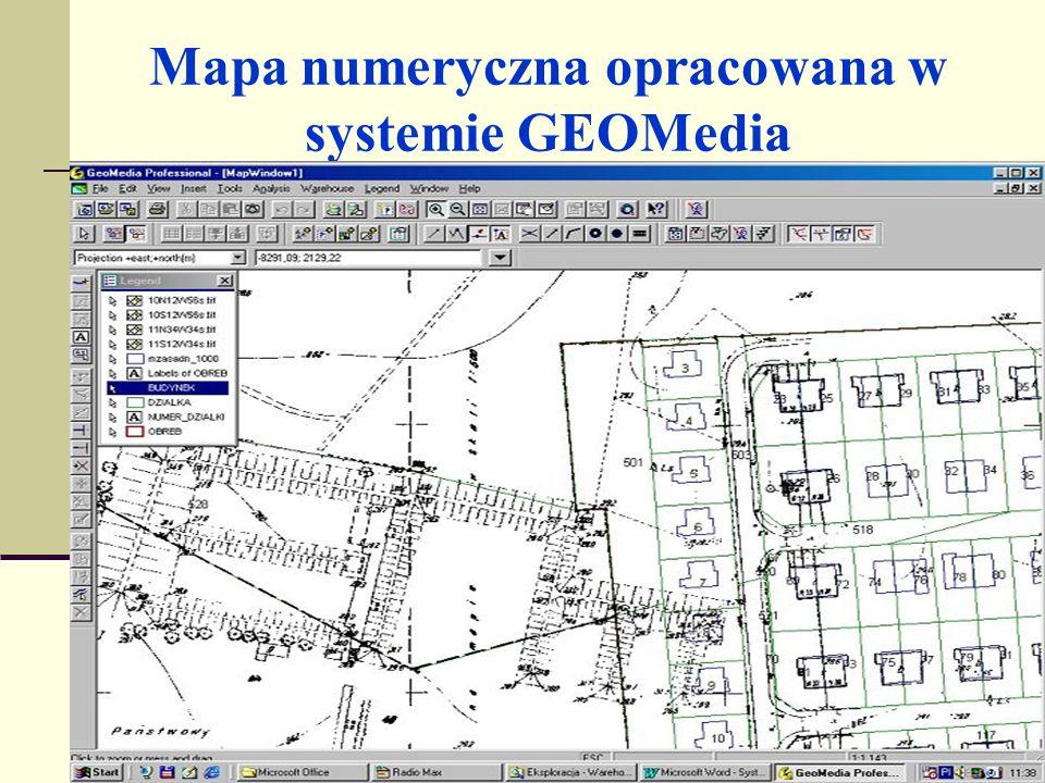 Mapa numeryczna opracowana w systemie GEOMedia