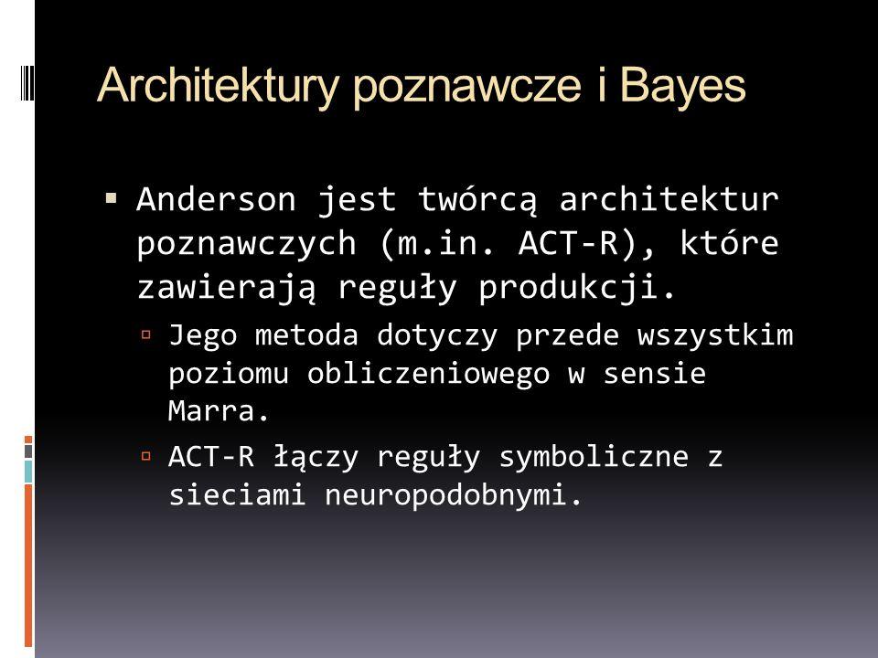 Architektury poznawcze i Bayes