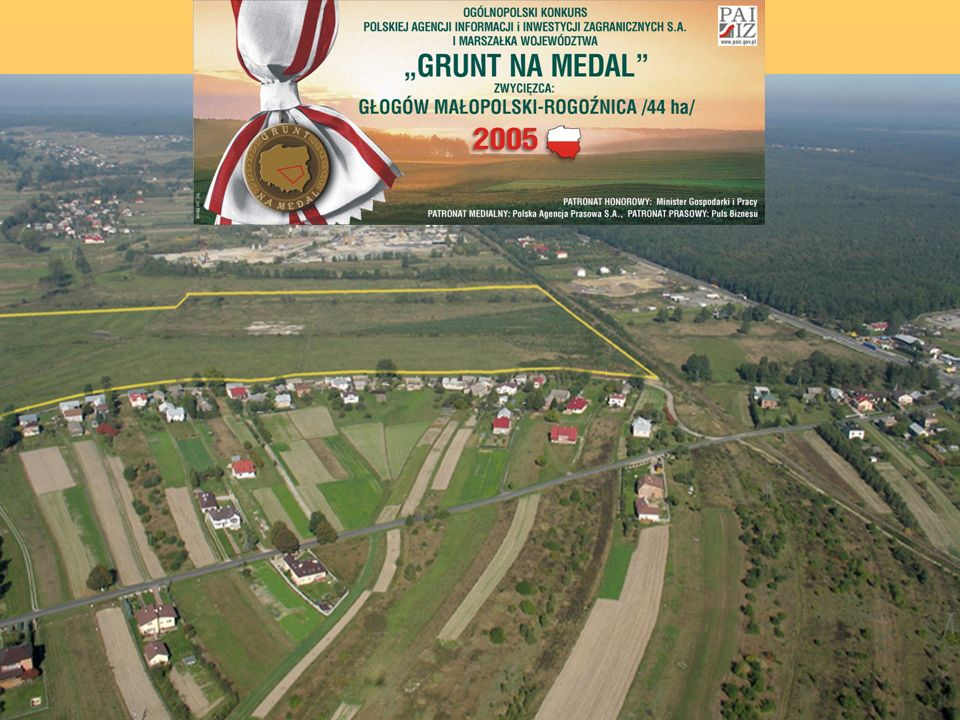 "This investment offer is recommended by PAIiIZ and Marshal of the region. It`s a winner of The Golden Site 2005"" contest for the best green-field sites in Poland."