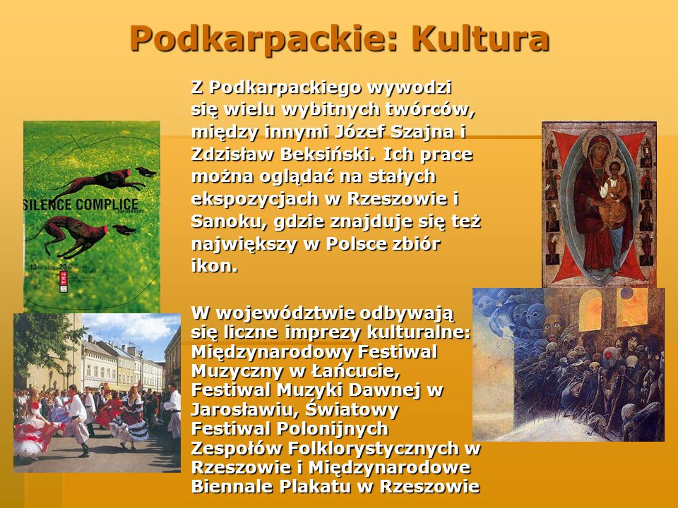 Podkarpackie: Kultura