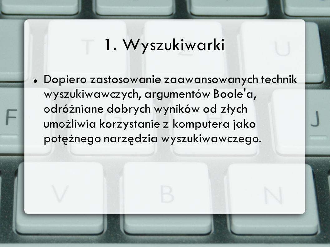 1. Wyszukiwarki