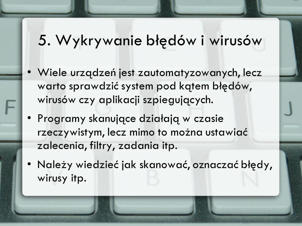 5. Wykrywanie błędów i wirusów