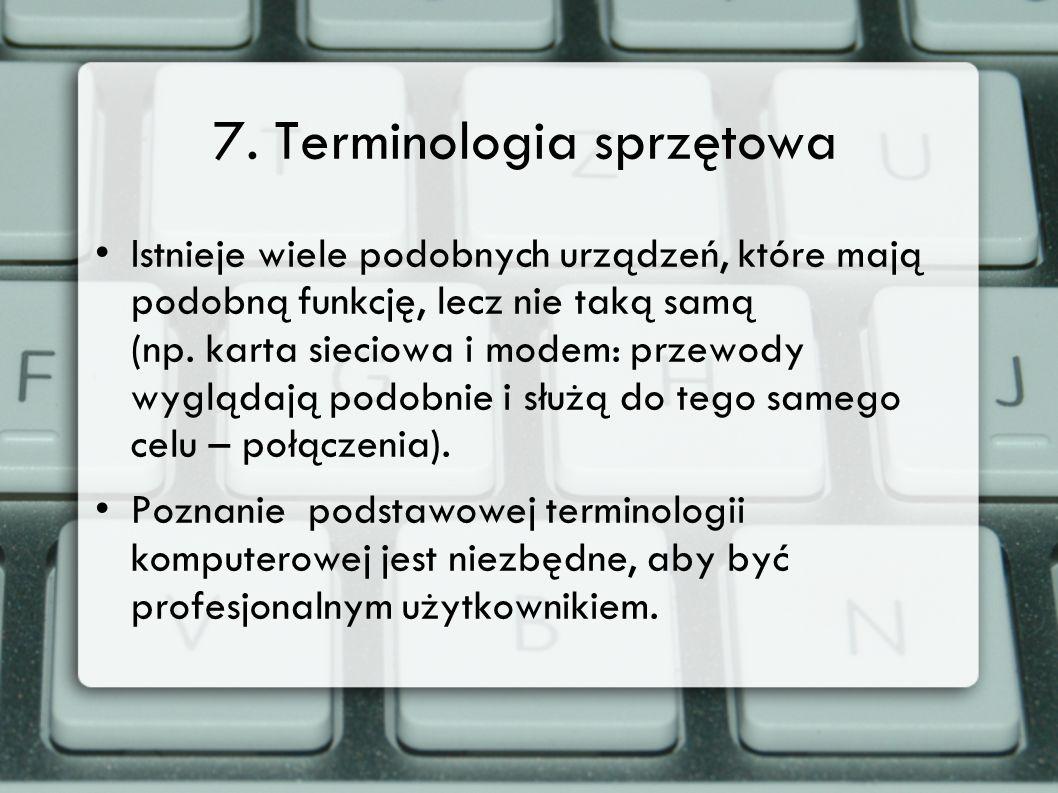 7. Terminologia sprzętowa