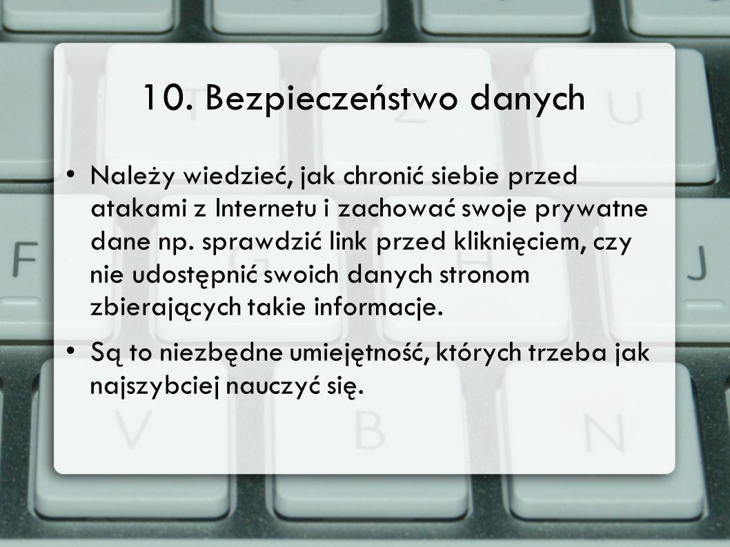 10. Bezpieczeństwo danych