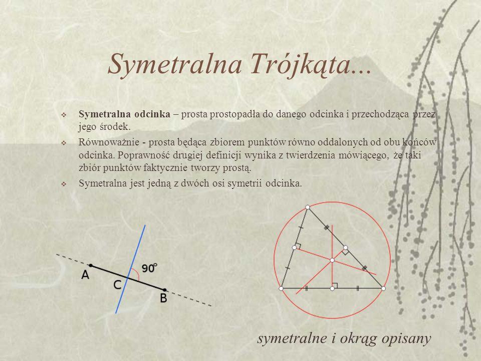 Symetralna Trójkąta... symetralne i okrąg opisany