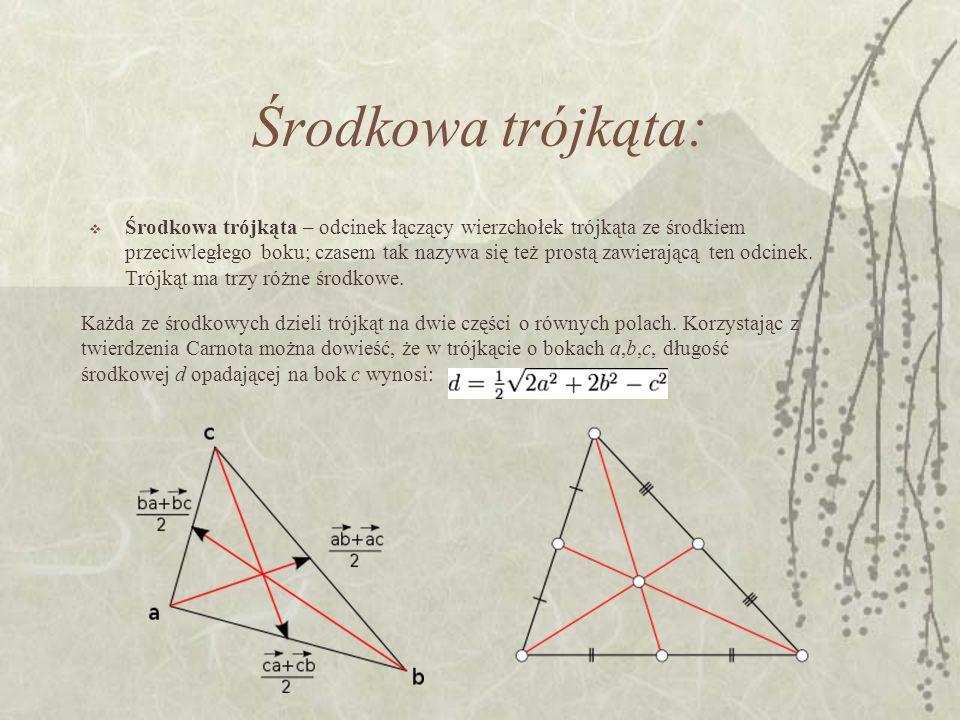 Środkowa trójkąta:
